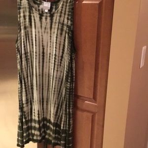 Sleeveless tie-dye dress. New without tag